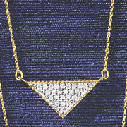 10k gold diamond triangle pendant