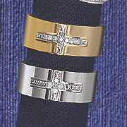 10k gold unisex cross band