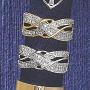 10k gold diamond x wrap ring