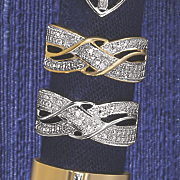 10k gold diamond x wrap ring