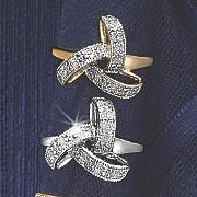 10k gold triple loop ring