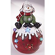 snowman led star globe