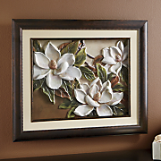 Dimensional Magnolias in Bloom Wall Art