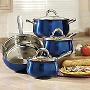 7-Piece Colored Stainless Steel Cookware Set by Oster