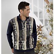 1/4-Zip Maze Sweater