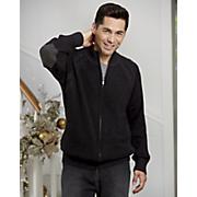 Full-Zip Zinfandel Sweater