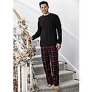 plaid 2 pc  pj set
