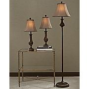 set of 3 bronze lamps