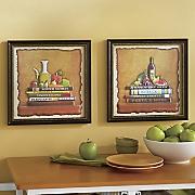 Set of 2 Cookbook 3-D Wall Art