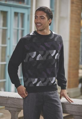 Curve Pattern Sweater