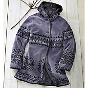 hooded reversible fleece