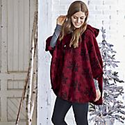 wool blend snowflake cape