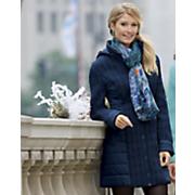 sapphire mixed quilt coat