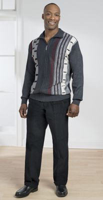 Abstract Sweater and Cord Pant Set by Akademiks