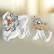 crystal flower   butterfly