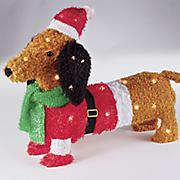 lighted christmas dachshund