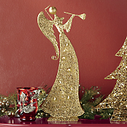 lighted trumpeting angel