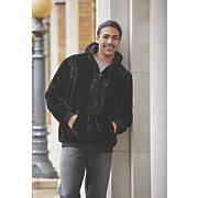 reversible faux fur hoodie