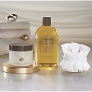 argan oil and vanilla bath scent