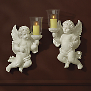 set of 2 cherub sconces 59