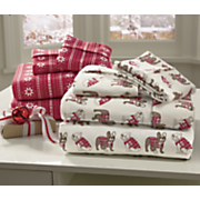 holiday cotton flannel sheet set