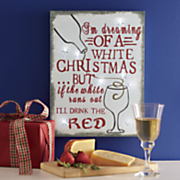 """""""I'M Dreaming of a White Christmas.."""" Lighted Wall Art"""