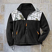 snow camo fleece jacket