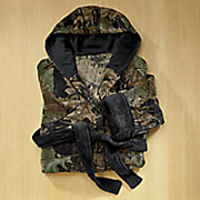 camo fleece robe by trail crest