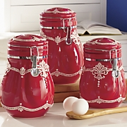 3-Piece Lace Canister Set