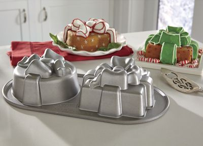 Pretty Presents Duet Cake Pan by Nordic Ware