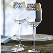 Set of 4 Gold Sun Wine Glasses