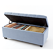 plush storage ottoman