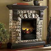 faux stone fireplace 10