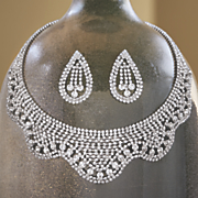 crystal necklace and earring set 99