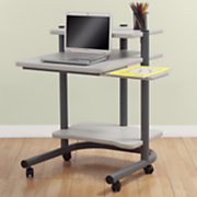 24 inch Rolling Computer Work Station