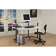 48 inch Rolling Computer Work Station