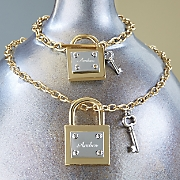 personalized lock key necklace