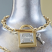 personalized lock key bracelet