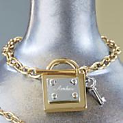 personalized lock key bracelet