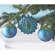 Set of 3 Peacock Ornaments