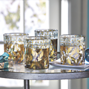 set of 4 18k gold accented cocktail glasses