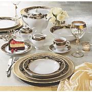 47 pc  onyx ridgewood dinnerware set