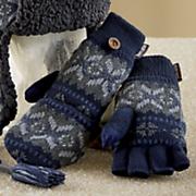 fairisle flip mittens