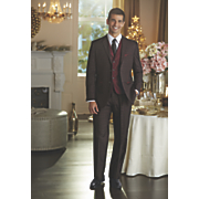 black and red 3 pc  suit