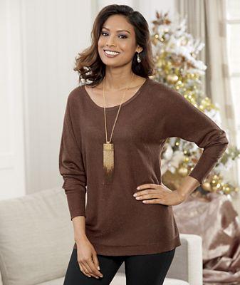 Copper Sparkle Sweater