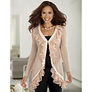 Pleat Ruffle Cardigan
