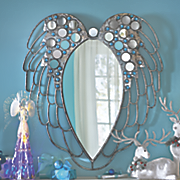 jeweled wings wall mirror