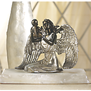 angel with child figurine