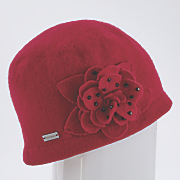 felt floral hat by betmar