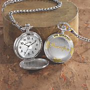 personalized dad grandpa pocket watch